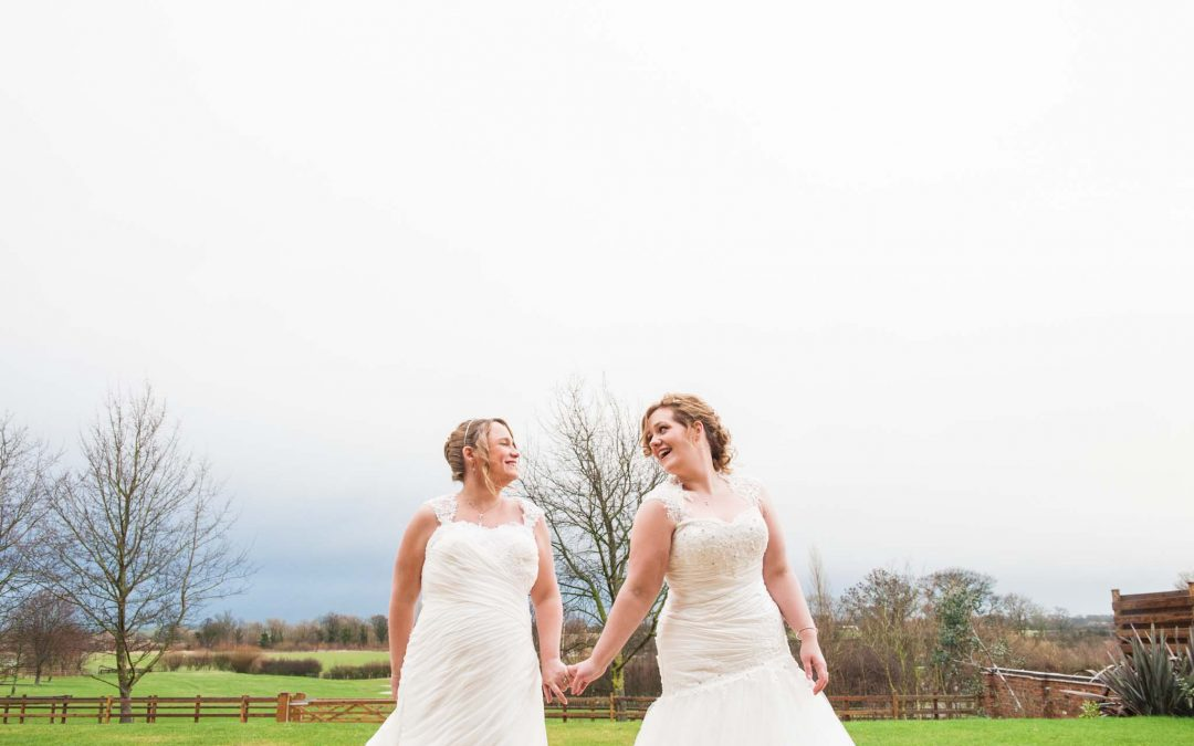 Louisa and Emma's beautiful Mythe Barn Wedding