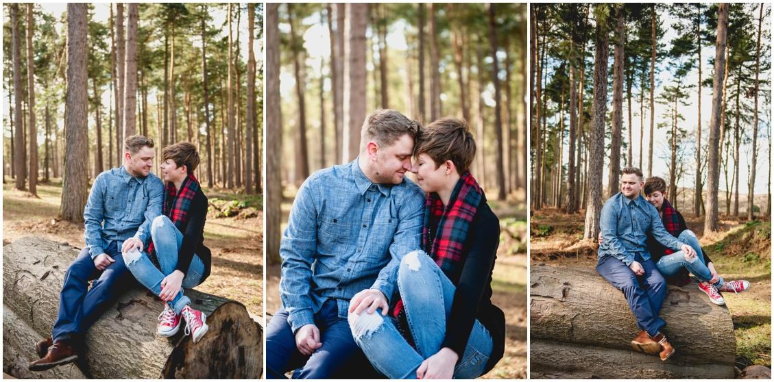 Cannock Chase Engagement Shoot, Lisa Carpenter Wedding Photography, photos