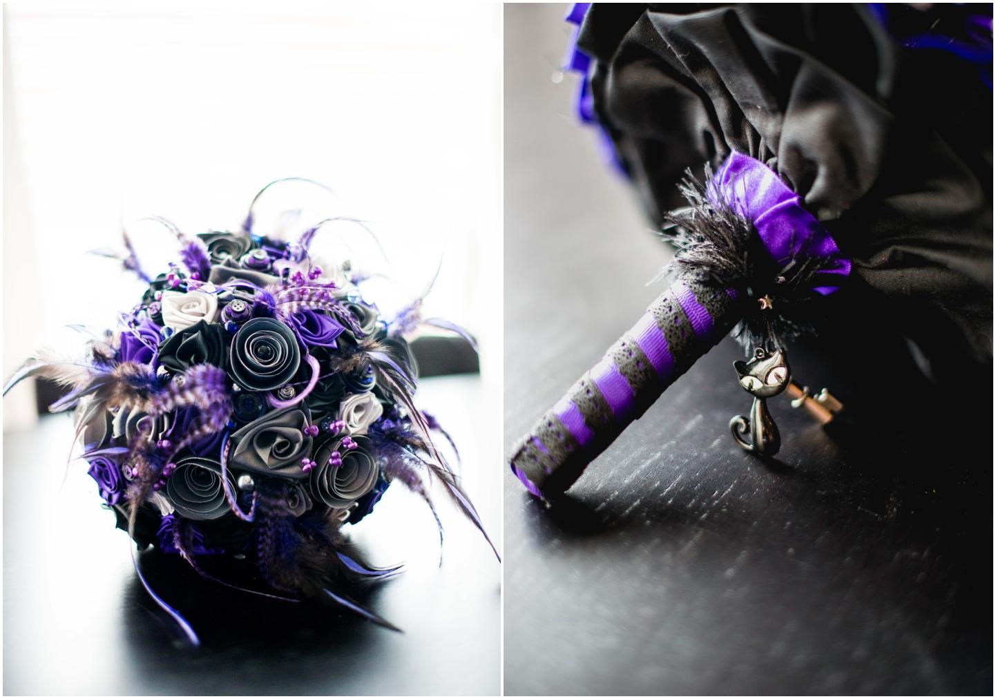 Bond Company Wedding, Digbeth, Lisa Carpenter Photography, Birmingham, goth wedding, alternative wedding, photos, bouquet