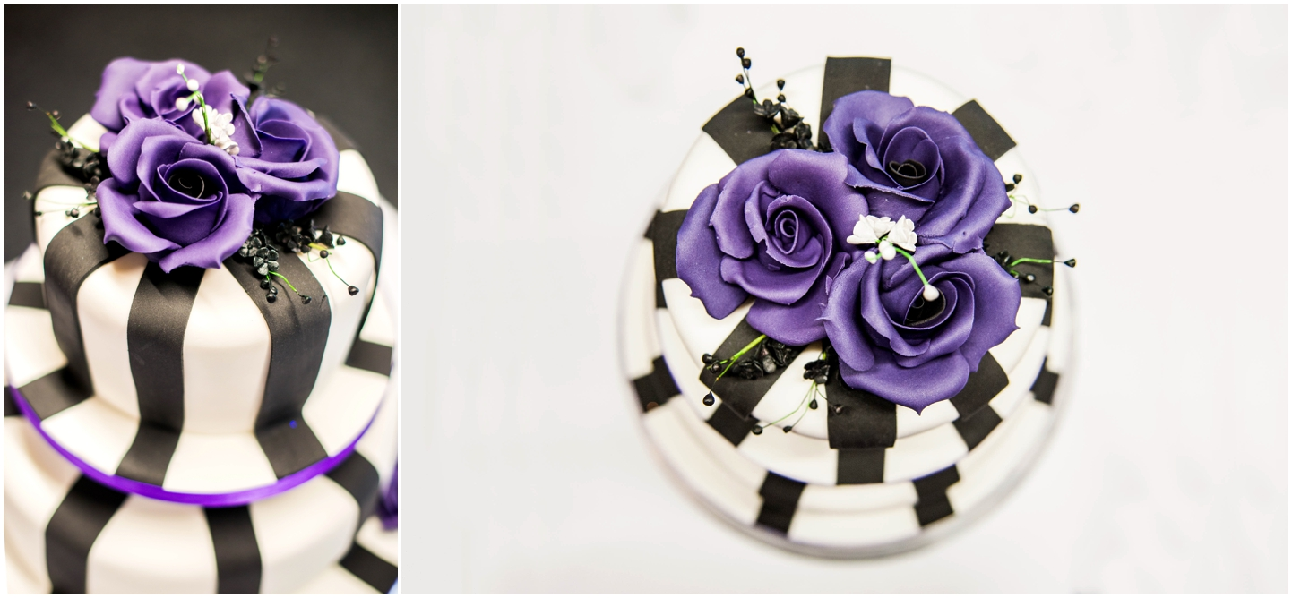 Bond Company Wedding, Digbeth, Lisa Carpenter Photography, Birmingham, goth wedding, alternative wedding, photos, cake