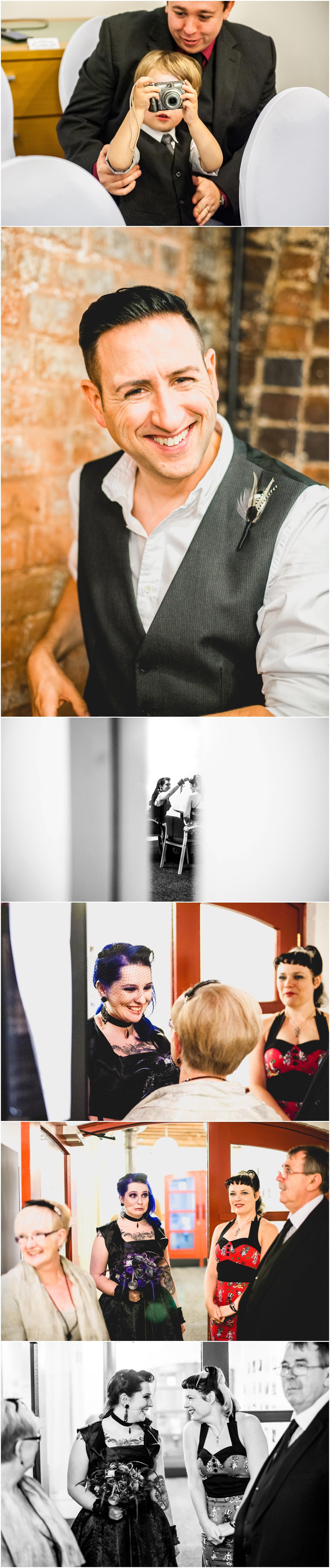Bond Company Wedding, Digbeth, Lisa Carpenter Photography, Birmingham, goth wedding, alternative wedding, photos, ceremony