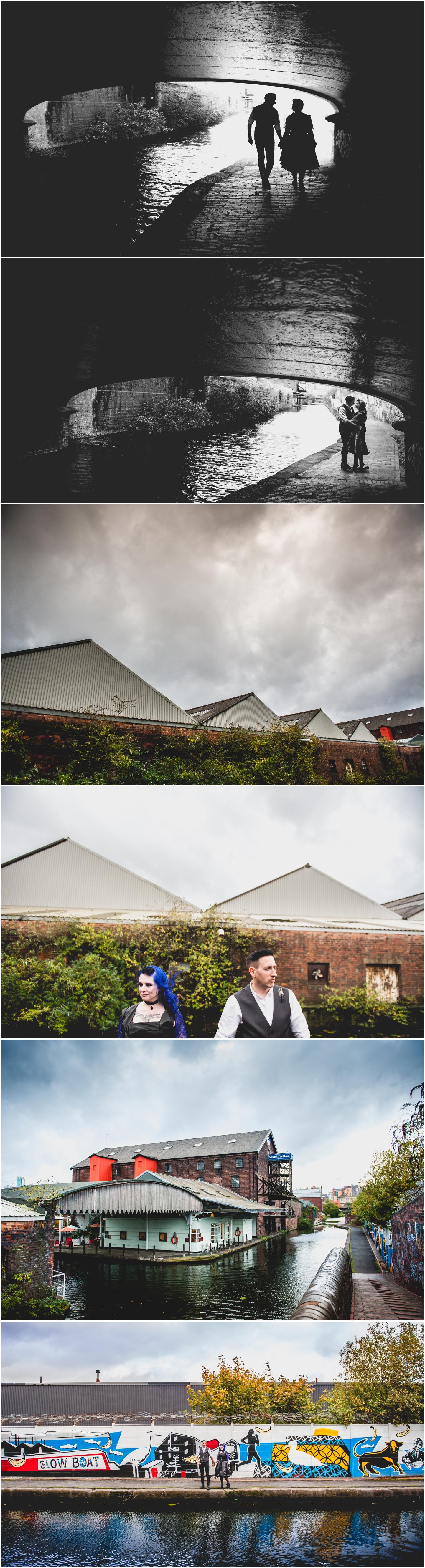 Bond Company Wedding, Digbeth, Lisa Carpenter Photography, Birmingham, goth wedding, alternative wedding, photos, canal