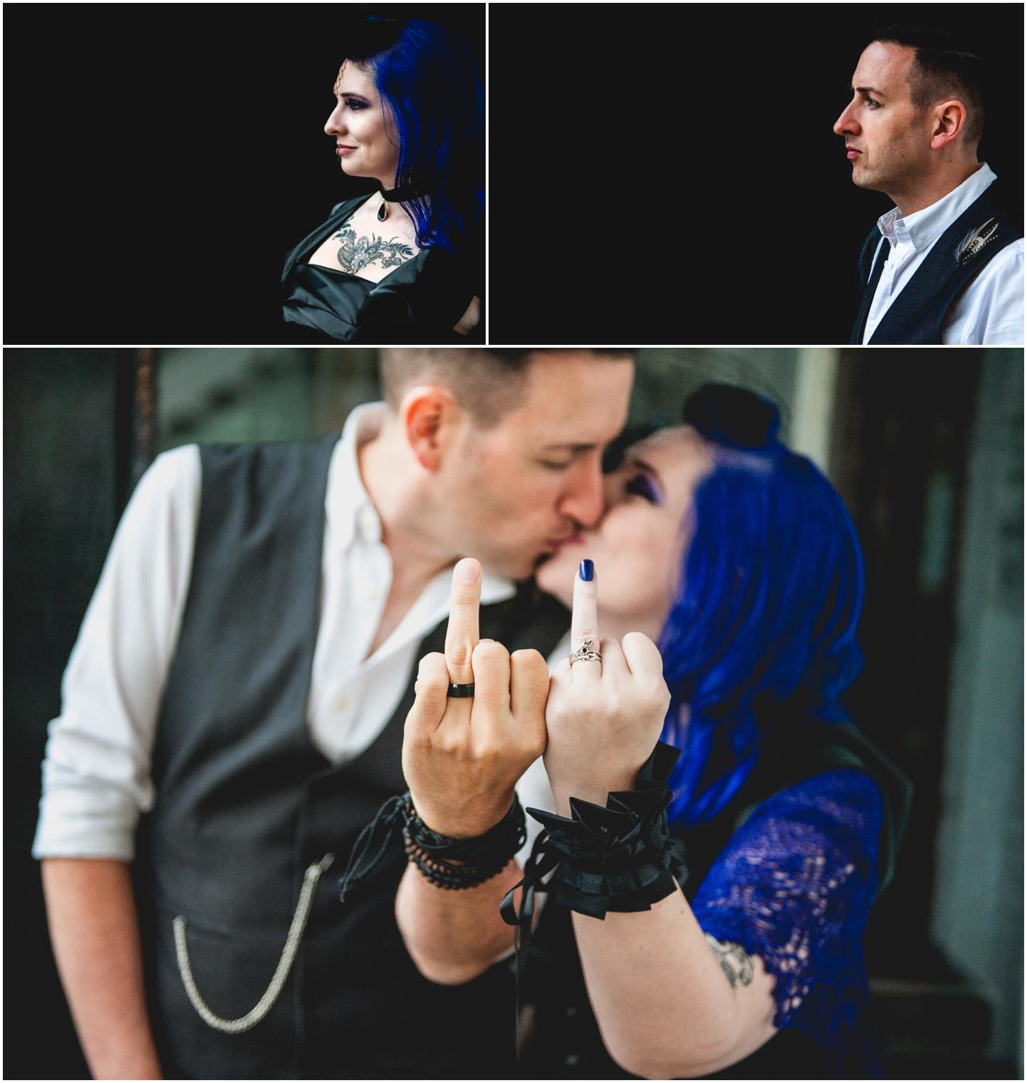 Bond Company Wedding, Digbeth, Lisa Carpenter Photography, Birmingham, goth wedding, alternative wedding, photos, rings