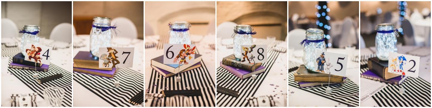 Bond Company Wedding, Digbeth, Lisa Carpenter Photography, Birmingham, goth wedding, alternative wedding, photos, gaming, mason jars, fairy lights