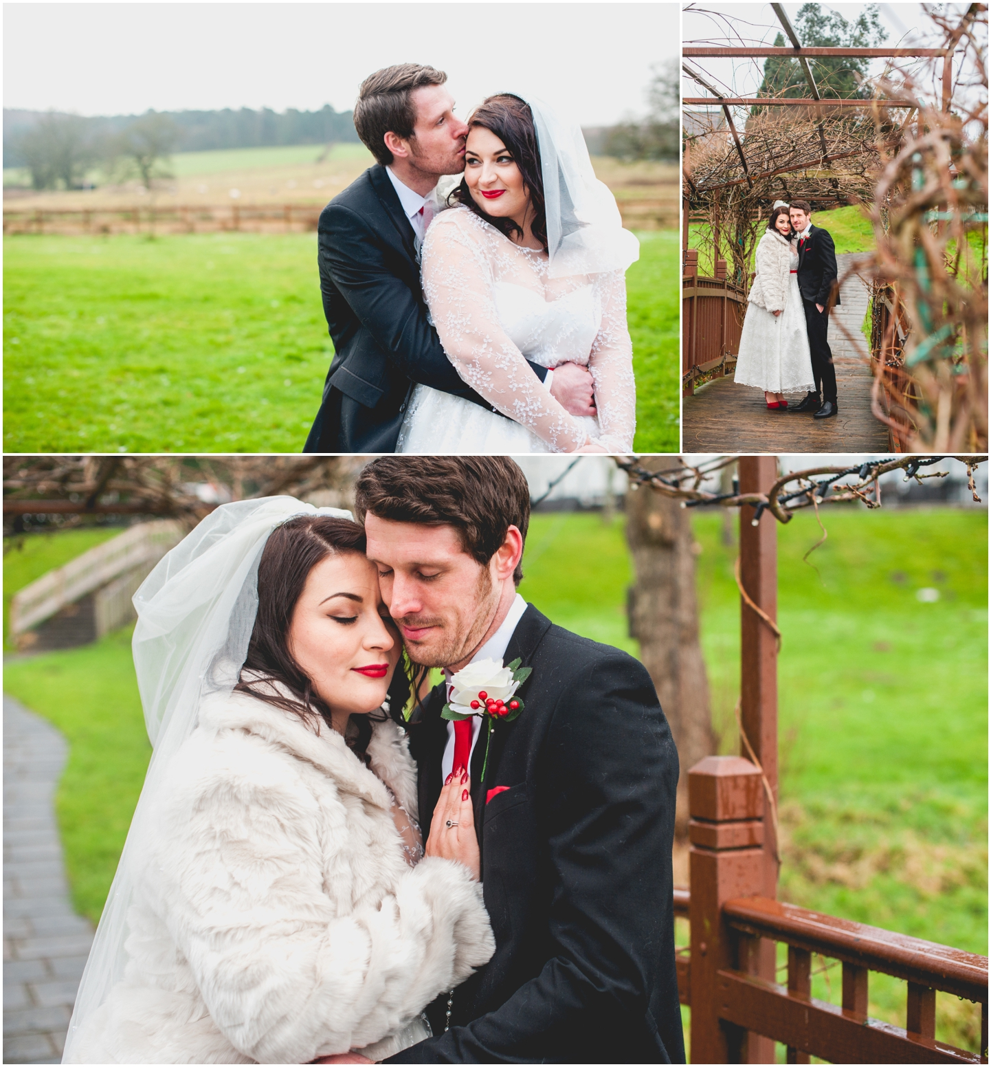 Old School House, Weeford, Winter Wedding Photography at Christmas time by Lisa Carpenter Photos