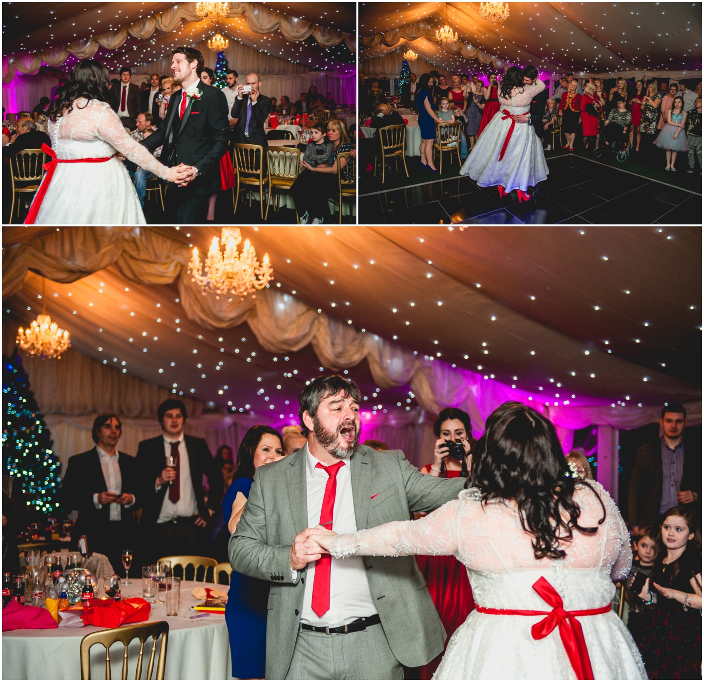 Old School House, Weeford, Winter Wedding Photography at Christmas time by Lisa Carpenter Photos, first dance