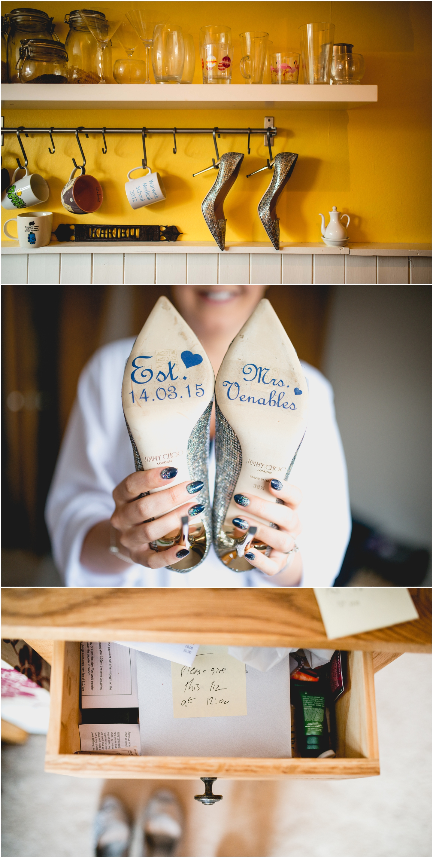 Pendrell Hall Wedding Photography by Lisa Carpenter Photography, West Midlands photographer, shoes, Jimmy Choo