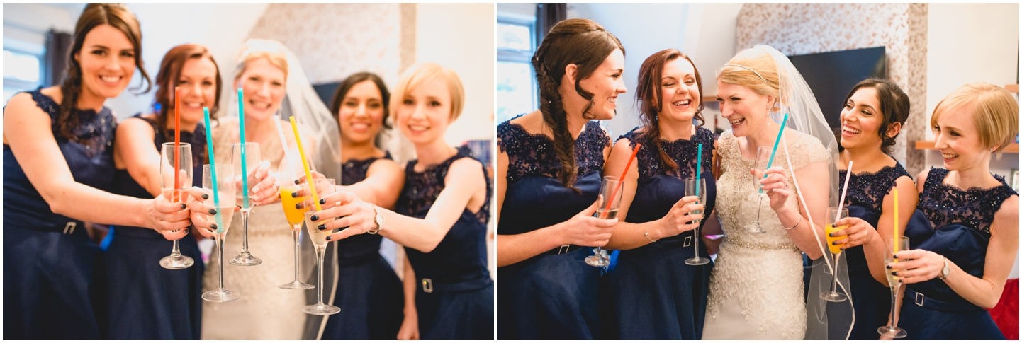 Pendrell Hall Wedding Photography by Lisa Carpenter Photography, West Midlands photographer, blue bridesmaids dresses