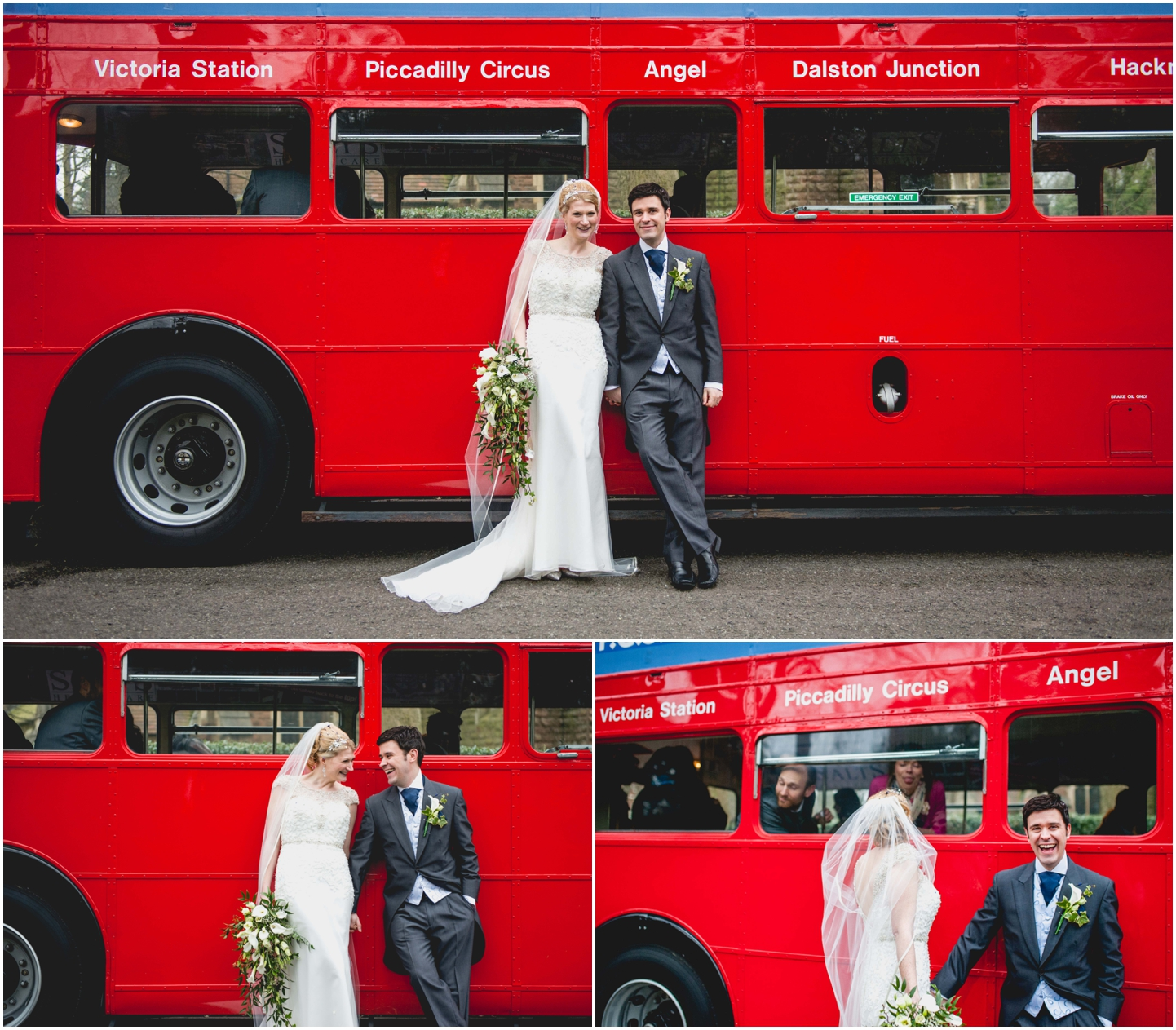 Pendrell Hall Wedding Photography by Lisa Carpenter Photography, West Midlands photographer, big red bus, wedding bus