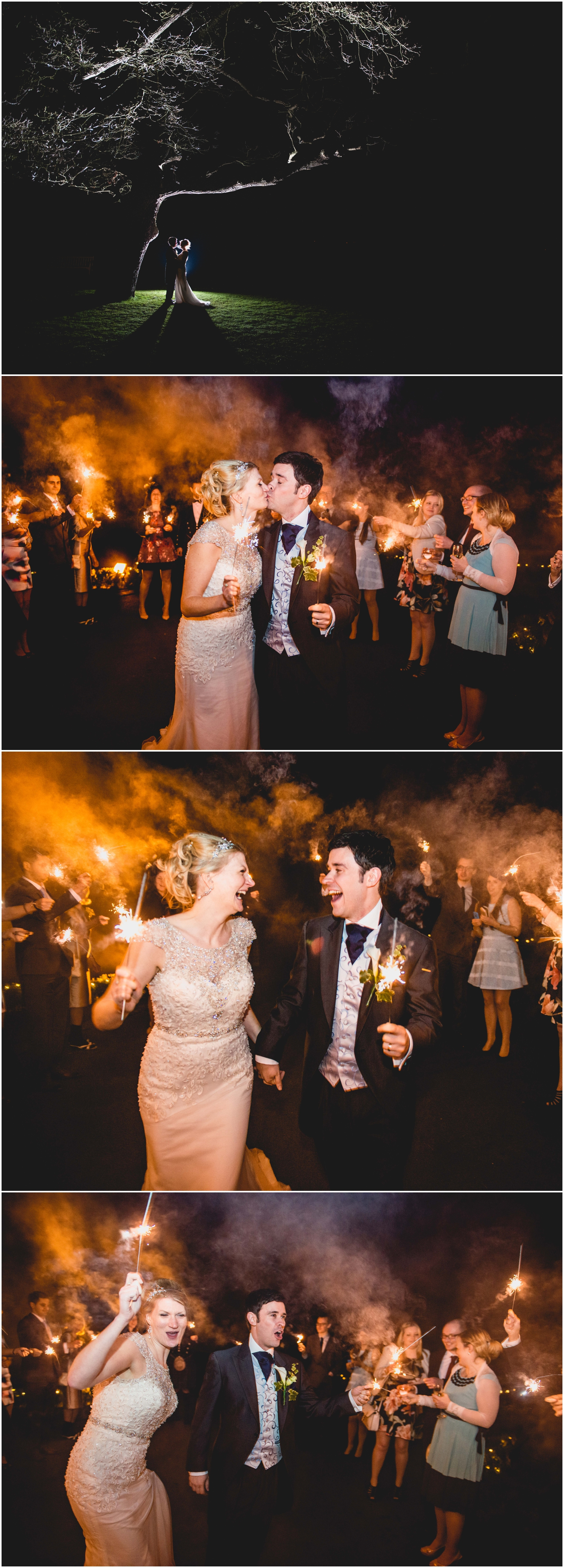 Pendrell Hall Wedding Photography by Lisa Carpenter Photography, West Midlands photographer, sparklers, sparkler exit