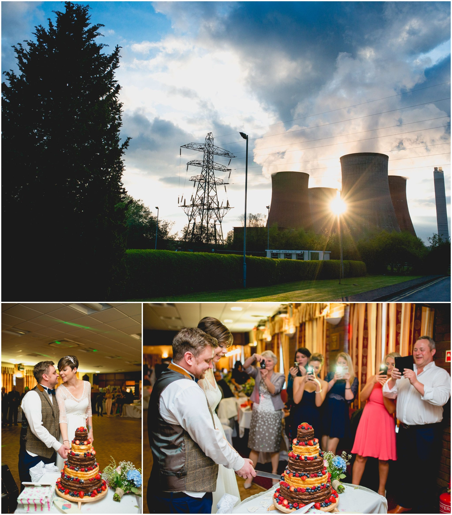 Rugeley Power Station, Wedding, Wedding Photography, West Midlands, photos,Lisa Carpenter Photography, Lichfield Registry Ofice, Peter and Eve, Subway, Power Station, Chimneys, Campervan, VW, cake cutting