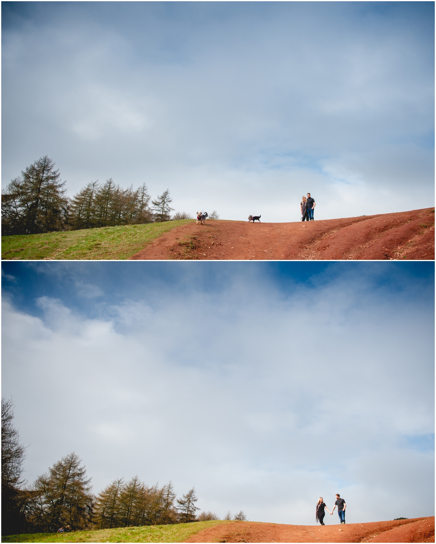 Rebecca and Neil's CLent Hills Engagement Shoot with West Midlands photographer Lisa Carpenter Photography