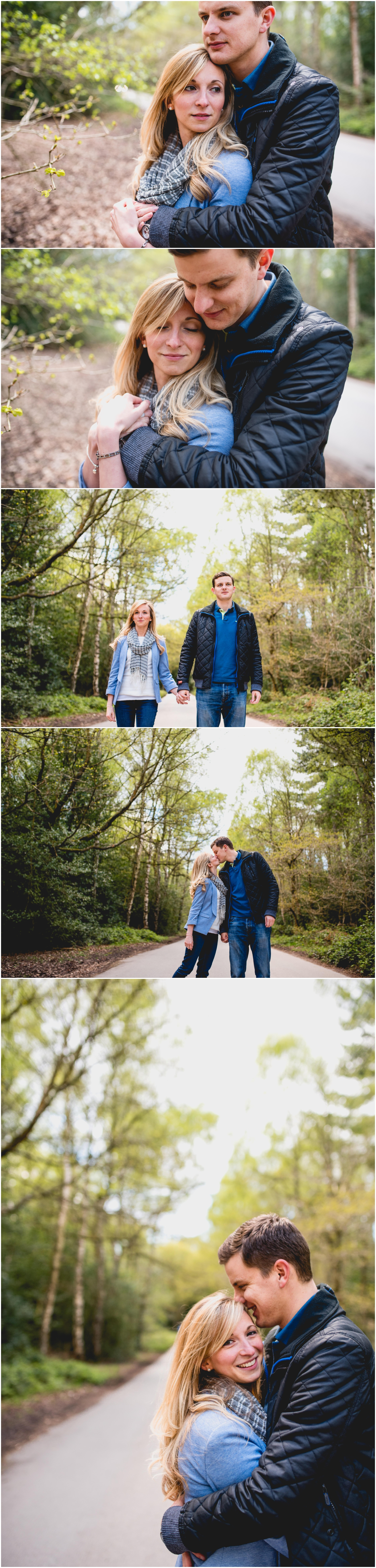 Helen and Dan, Pendrell Hall Wedding, Engagement Shoot in Sutton Park, Sutton Coldfield with Lisa Carpenter Photography