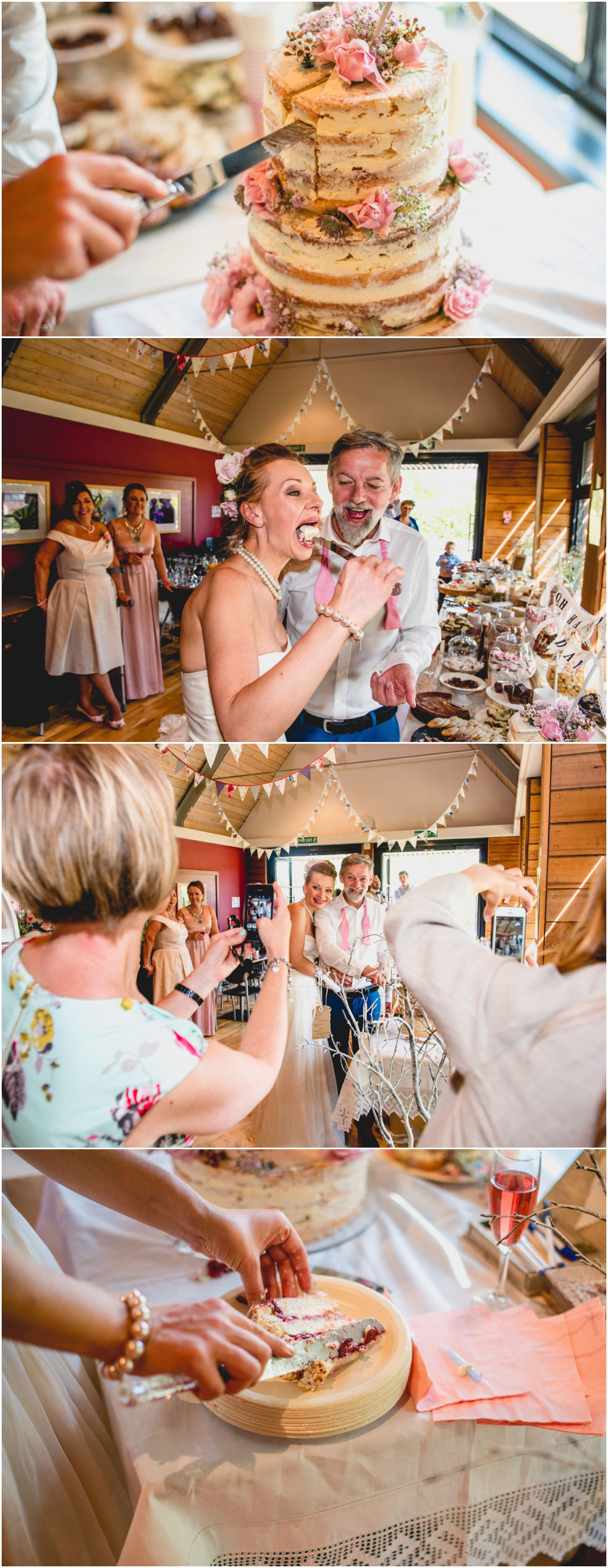 Daniella and Mark Wedding at Blakesley Hall in Birmingham, West Midlands by Lisa Carpenter Photography, Sutton Coldfield based wedding photographer, cake cutting ceremony