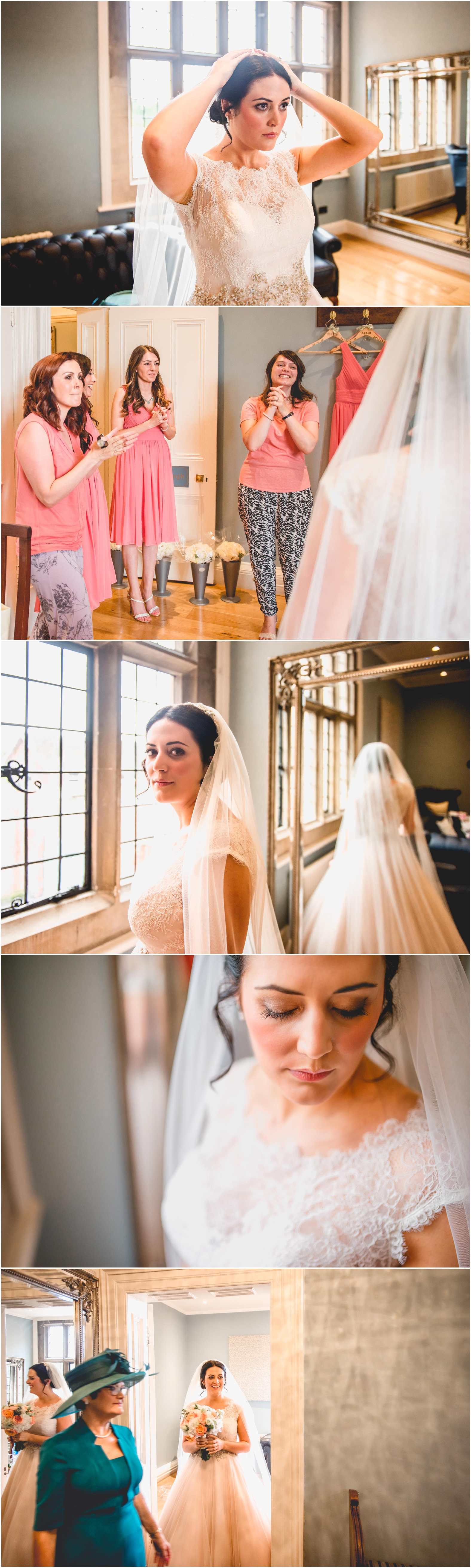 Sage and coral themed modern wedding at Pendrell Hall Wedding Photography by Lisa Carpenter Photography, West Midlands , Birmingham and Sutton Coldfield Wedding Photographer.