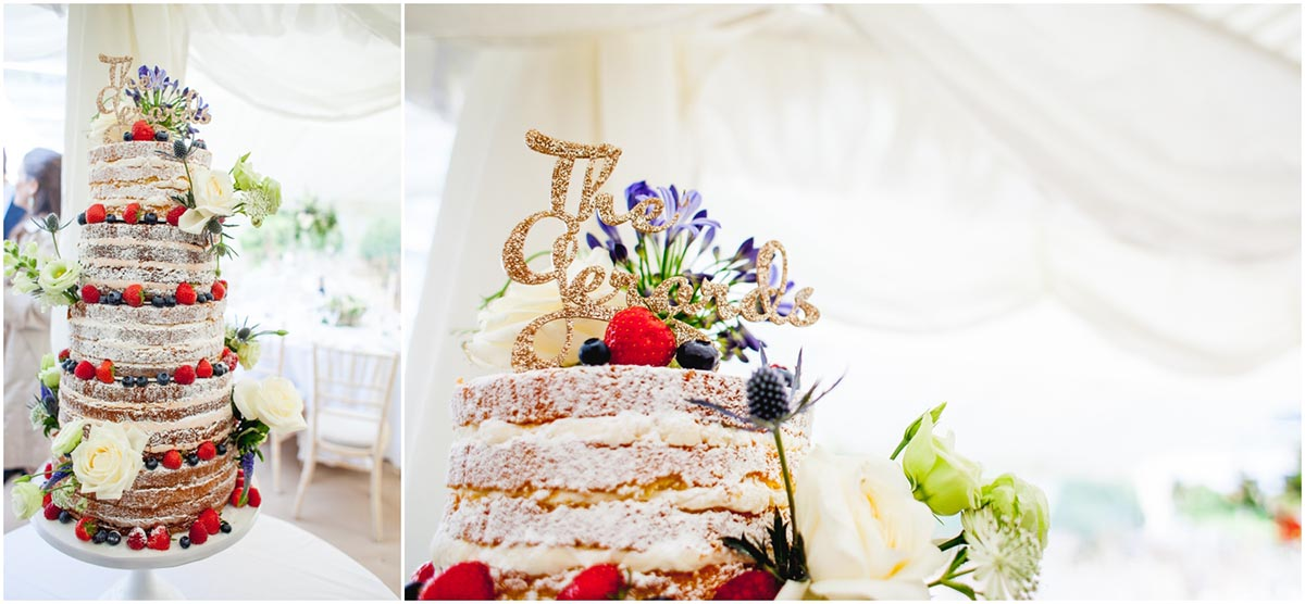 Susie and Ed's Dorset Wedding in Alton Pancras, Dorset, near Cerne Abbas, By Lisa Carpenter Photography, West Midlands, Birmingham based photographer, the cake