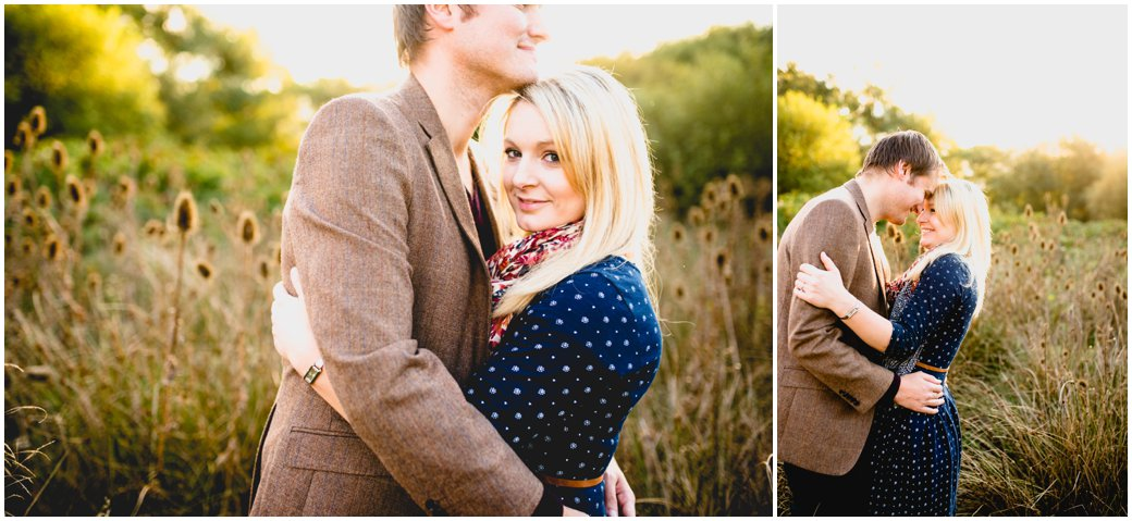 Amy and Tom's Engagement shoot in Sutton Park, Sutton Coldfield, at Golden hour with photos by Lisa Carpenter Photography, West Midlands photographer specialising in weddings, celebrities and family portraits