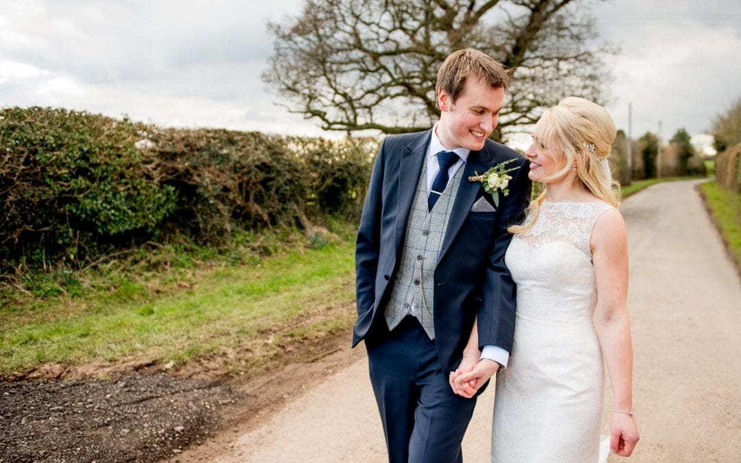 Curradine Barn's Springtime Wedding with Amy and Tom
