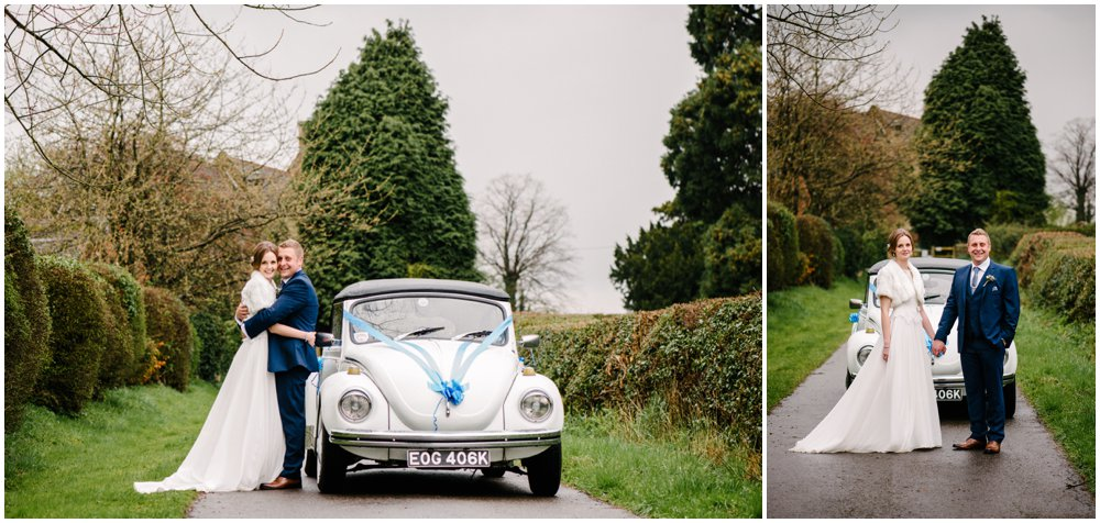 Chris and Beccy at Cliff Lakes, Kingsbury, Tamworth Wedding Photography, country theme with wild flowers, VW beetle and a trip on a speedboat by Lisa Carpenter Photography, Sutton Coldfield and Birmingham based wedding photographer