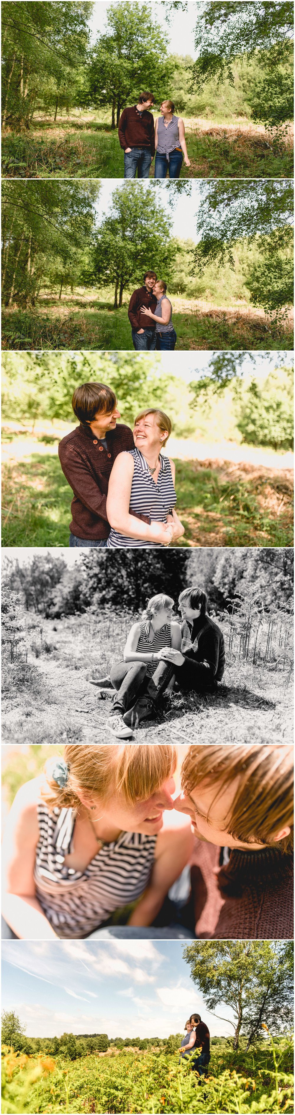 Engagement shoot in Sutton Park by Birmingham, Sutton Coldfield and West Midlands based photographer, Lisa Carpenter Photography.