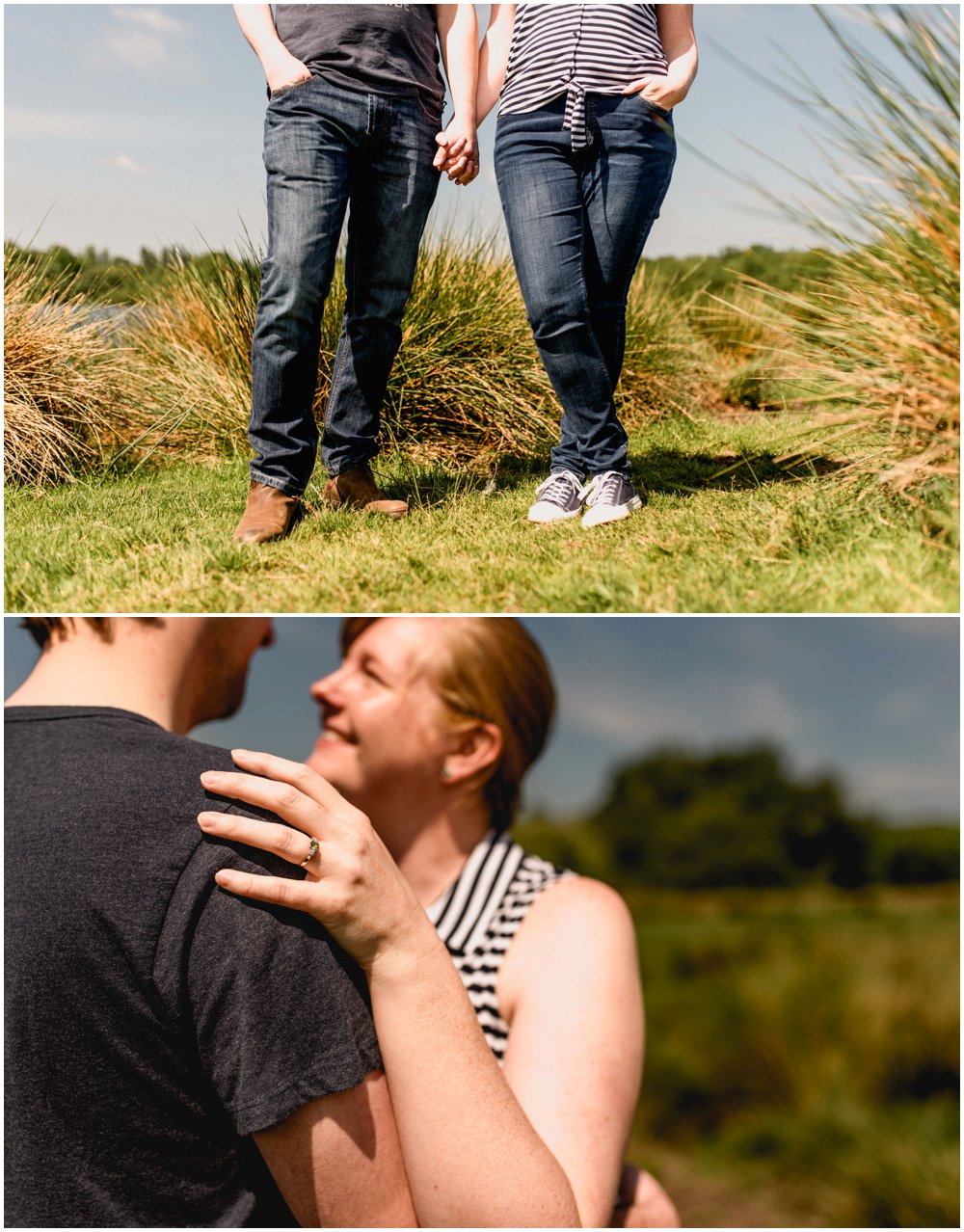 Engagement shoot in Sutton Park by Birmingham, Sutton Coldfield and West Midlands based wedding photographer, Lisa Carpenter Photography.