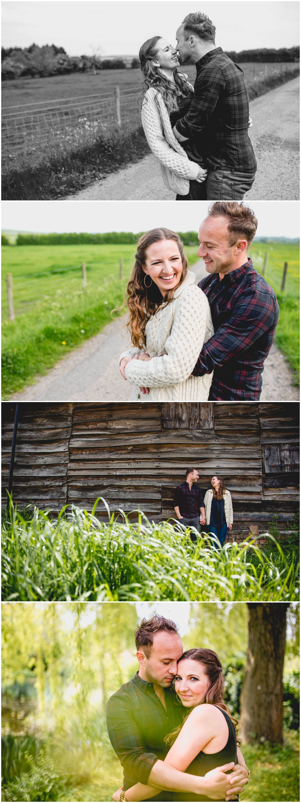 Sarah and Tom, countryside engagement shoot in Pershore West Midlands by Lisa Carpenter Photography, Birmingham based wedding photographer, specialising in relaxed, fun wedding photography