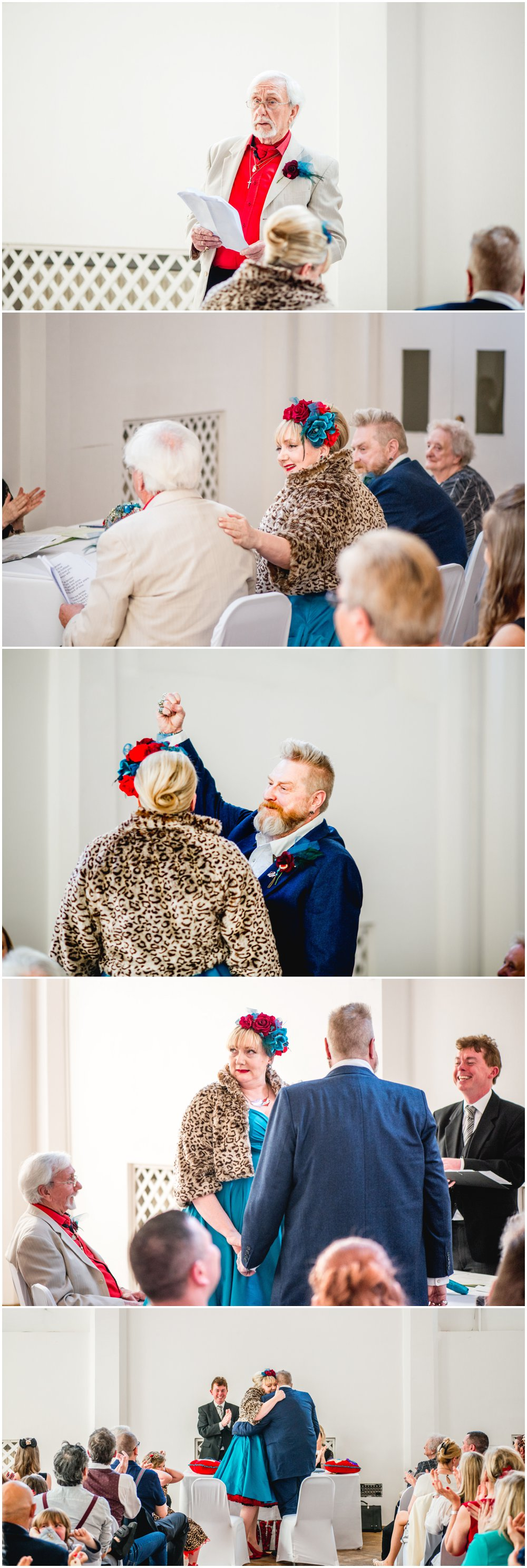 Sarah and Johnny's colourful urban tattoo theme wedding in Birmingham's Custard Factory, Digbeth, with photos by Lisa Carpenter Photography, West Midlands based alternative wedding photographer in Birmingham and Sutton Coldfield