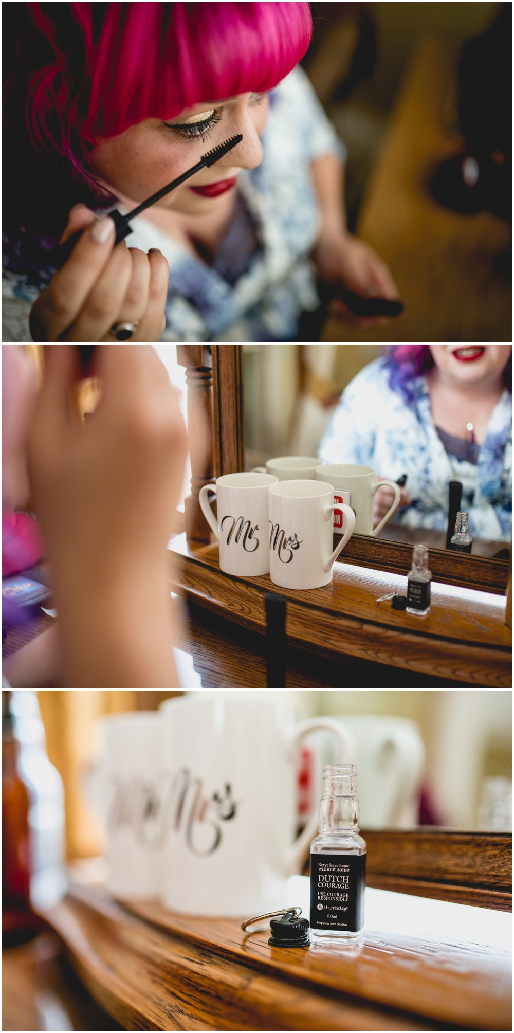 Fay and Michael - Alternative, Carnival themed, pink and maroon themed wedding at Enginuity Museum in Ironbridge, Telford by West Midlands and Birmingham based wedding photographer Lisa Carpenter Photography