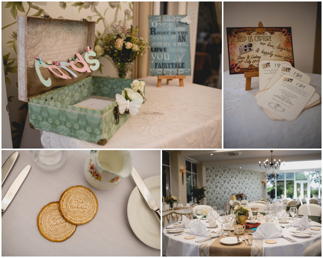 Lindsay and Simon Wedding at St Andrews Town Hotel in Droitwich, Worcester with vintage style and green and pink theme with photography by Lisa Carpenter Photography, West Midlands photographer