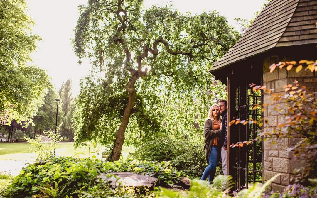 Beau and Phil's Arboretum Engagement Shoot