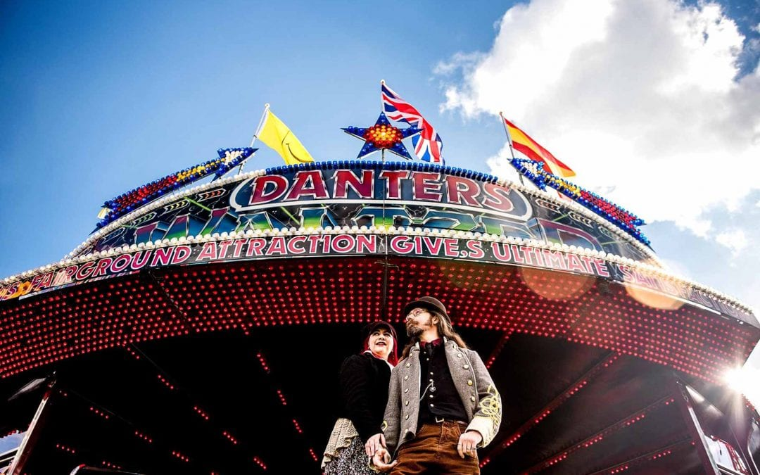 Fay and Michael's Fairground Attraction – Engagement Shoot at Treasure Island in Stourport