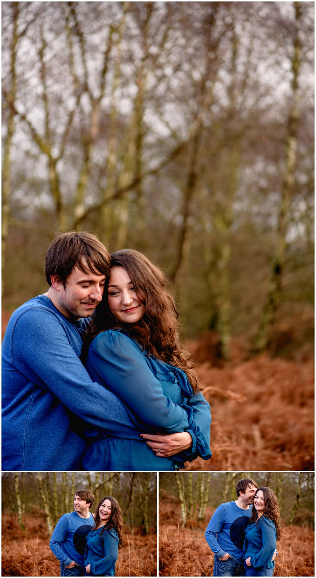 Rebecca and Andy, engagement shoot in Sutton Park, Sutton Coldfield by Birmingham and West Midlands based photographer, Lisa Carpenter Photography before their wedding at Swinfen Hall