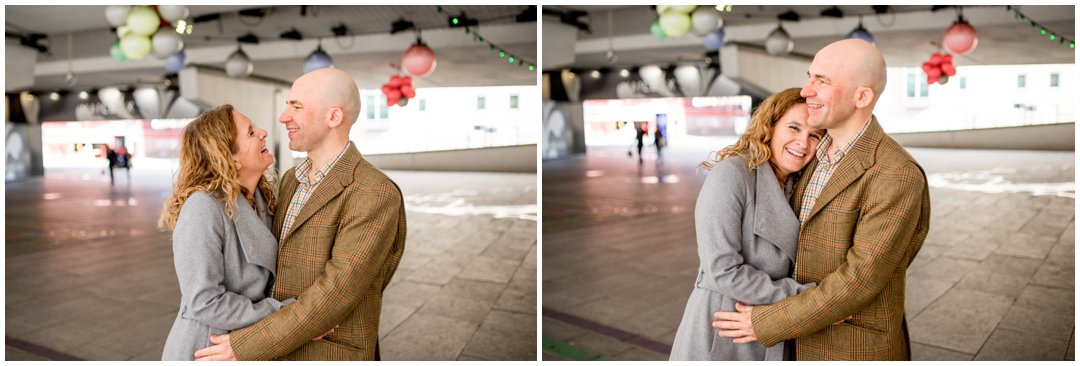Cynthia and Jean's Birmingham Urban Canalside pre-wedding engagement shoot ahead of their London city wedding at St George's Cathedral in Southwark by Sutton Coldfield and West Midlands wedding photographer Lisa Carpenter Photography