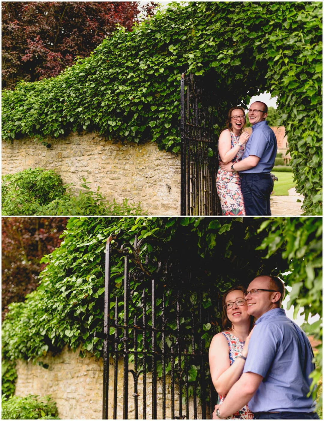 Pre-wedding engagement shoot at Le Manoir, Raymond Le Blanc's restaurant in Oxford by West Midlands Wedding Photographer Lisa Carpenter Photography