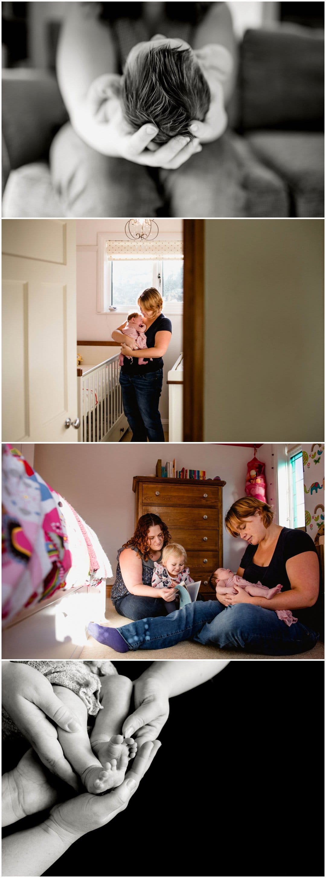 Baby Erin's newborn shoot by West Midlands and Birmingham lifestyle and wedding photographer Lisa Carpenter Photography working with the LGBT community promoting equal opportunities family shoots