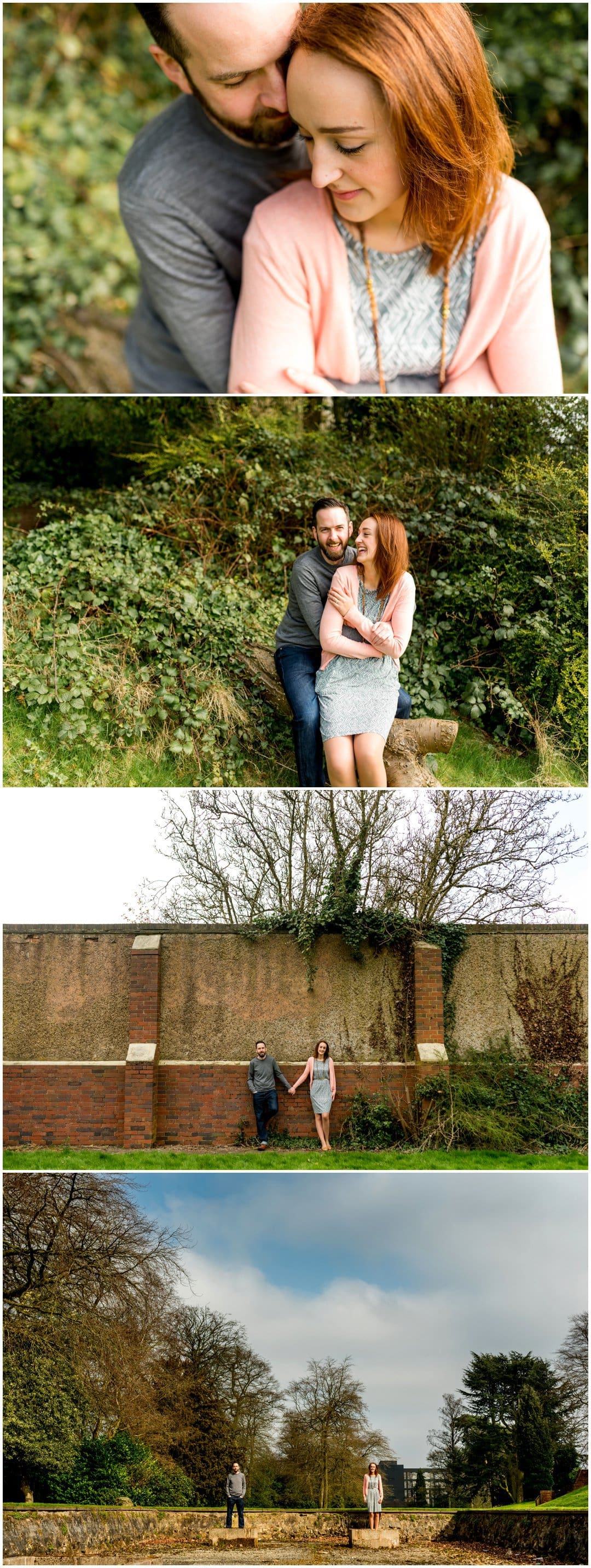 Helen and Dan's natural, fun engagement session in Bourneville, Birmingham by Lisa Carpenter Photography, West Midlands and Birmingham Wedding Photographer
