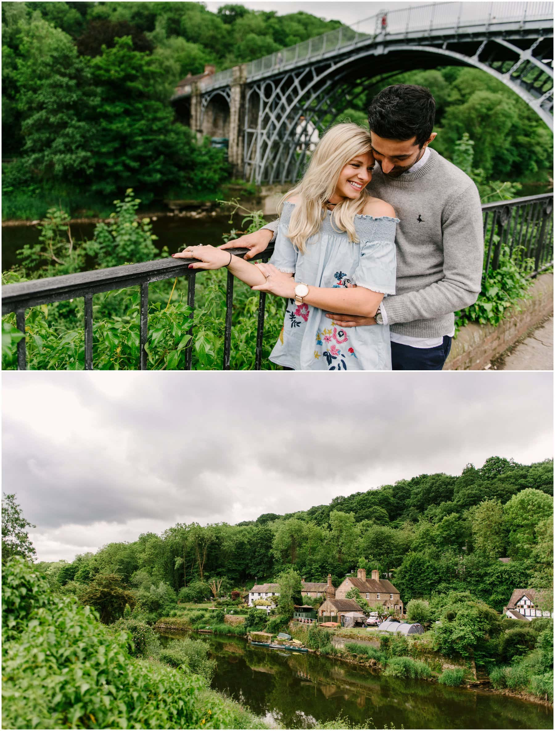Kirsty and Yovender's pre-wedding engagement shoot at Ironbridge Gorge in Telford ahead of their Packington Moor wedding by Lisa Carpenter Photography, West Midlands and Birminghambased wedding photographer specialising in quirky, alternative, fun, relaxed wedding photos.