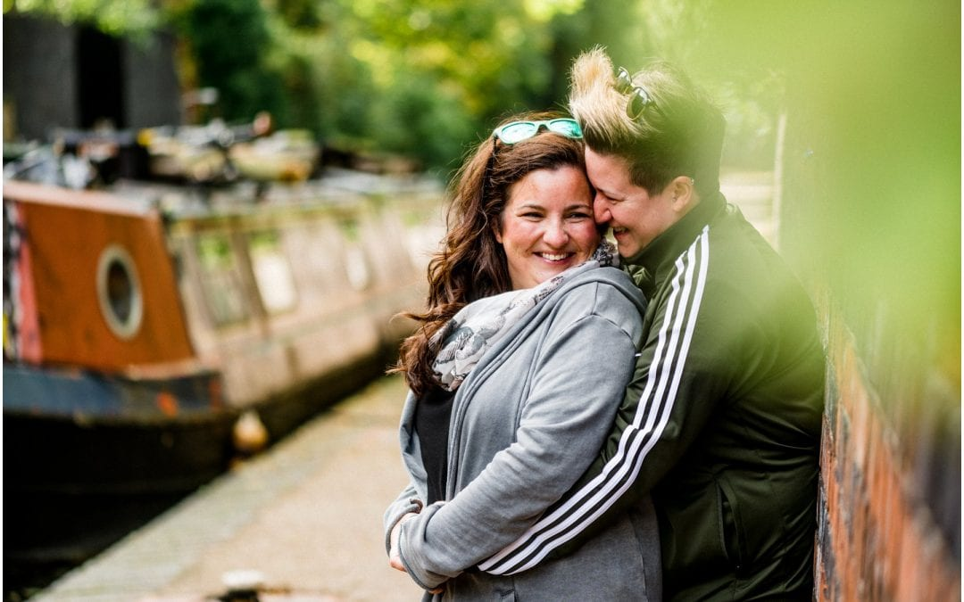 Becca and Suzy's Canalside Engagement Shoot in Birmingham