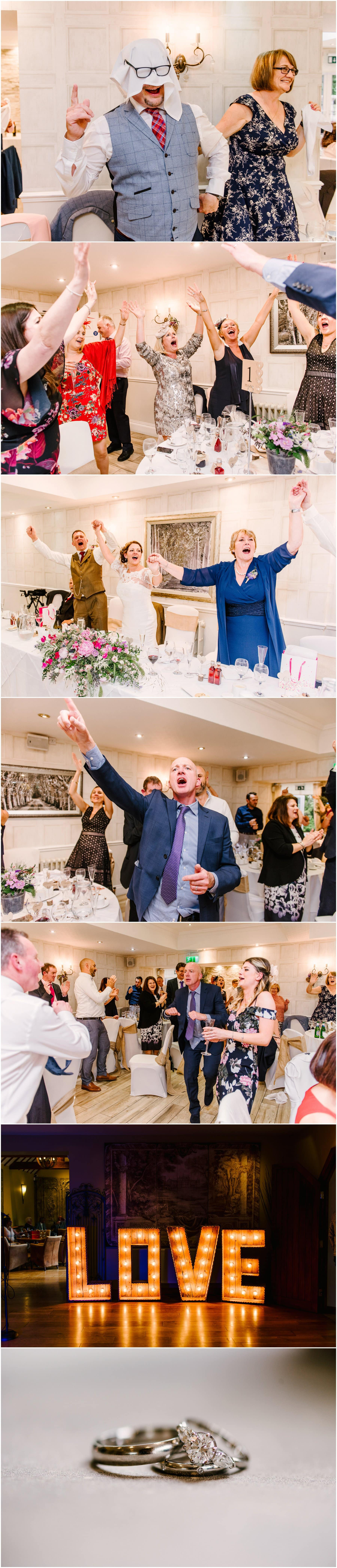 Sarah and Jason's fun and fabulous wedding at Nuthurst Grange Hotel in Solihull, featuring the Singing Waiters with photos by Lisa Carpenter Photography, West Midlands and Birmingham Wedding Photographer shooting cool, contemporary and alternative weddings throughout the West Midlands and nationwide.
