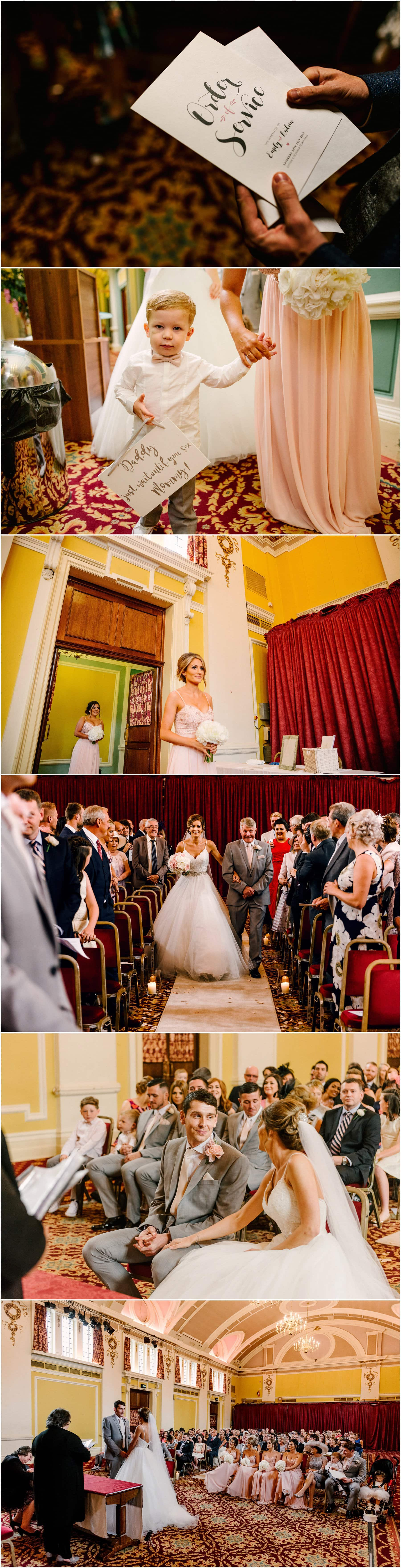 Emily and Andrew's Moxhull Hall Wedding in Sutton Coldfield with ceremony at Sutton Coldfield Town Hall.