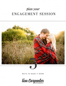 Engagement Shoot Magazine for Lisa Carpenter Photography