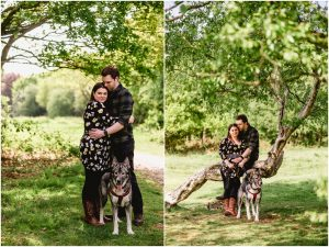 Pre-wedding engagement shoot with Chris and Laura in Sutton Park, Sutton Coldfield