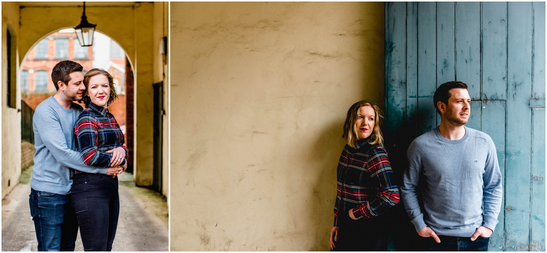 Couple shoot in Birmingham's Jewellery Quarter with Bec and Stu