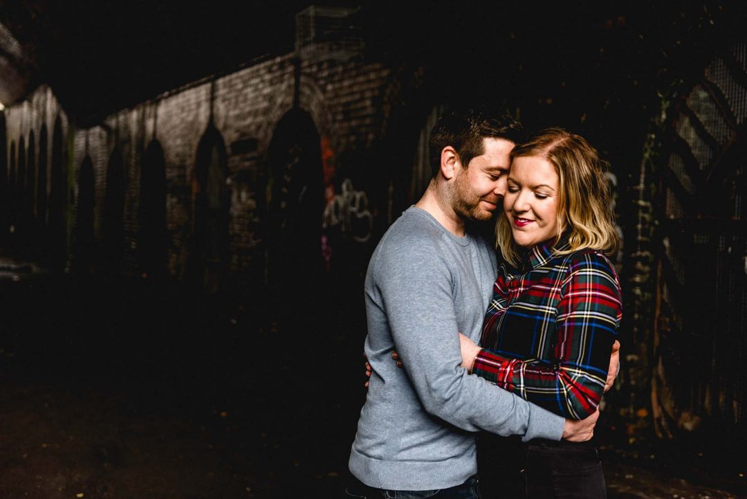 Birmingham Jewellery Quarter Engagement Shoot with Rebecca and Stuart
