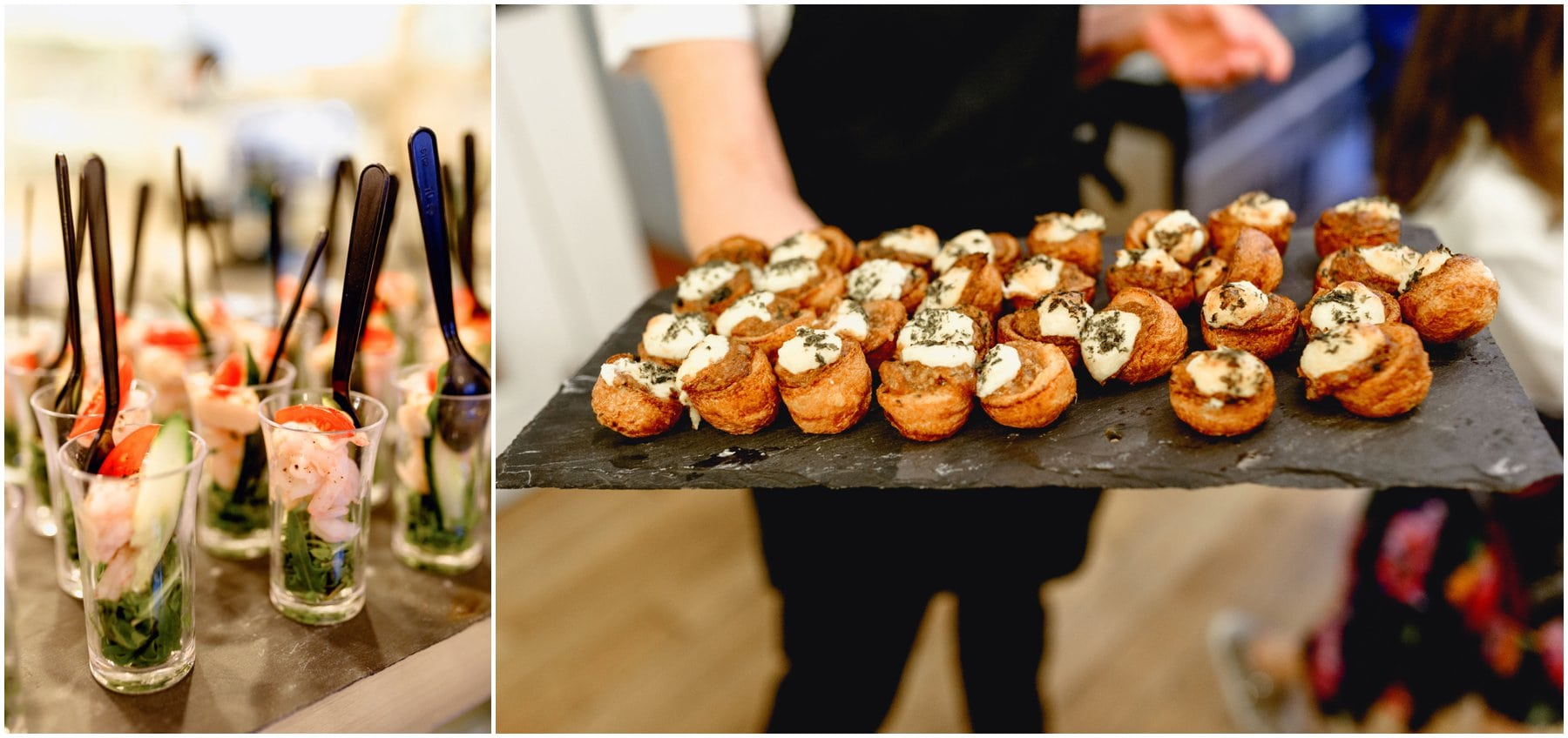 canapés served for wedding reception at The Bond Company in Birmingham