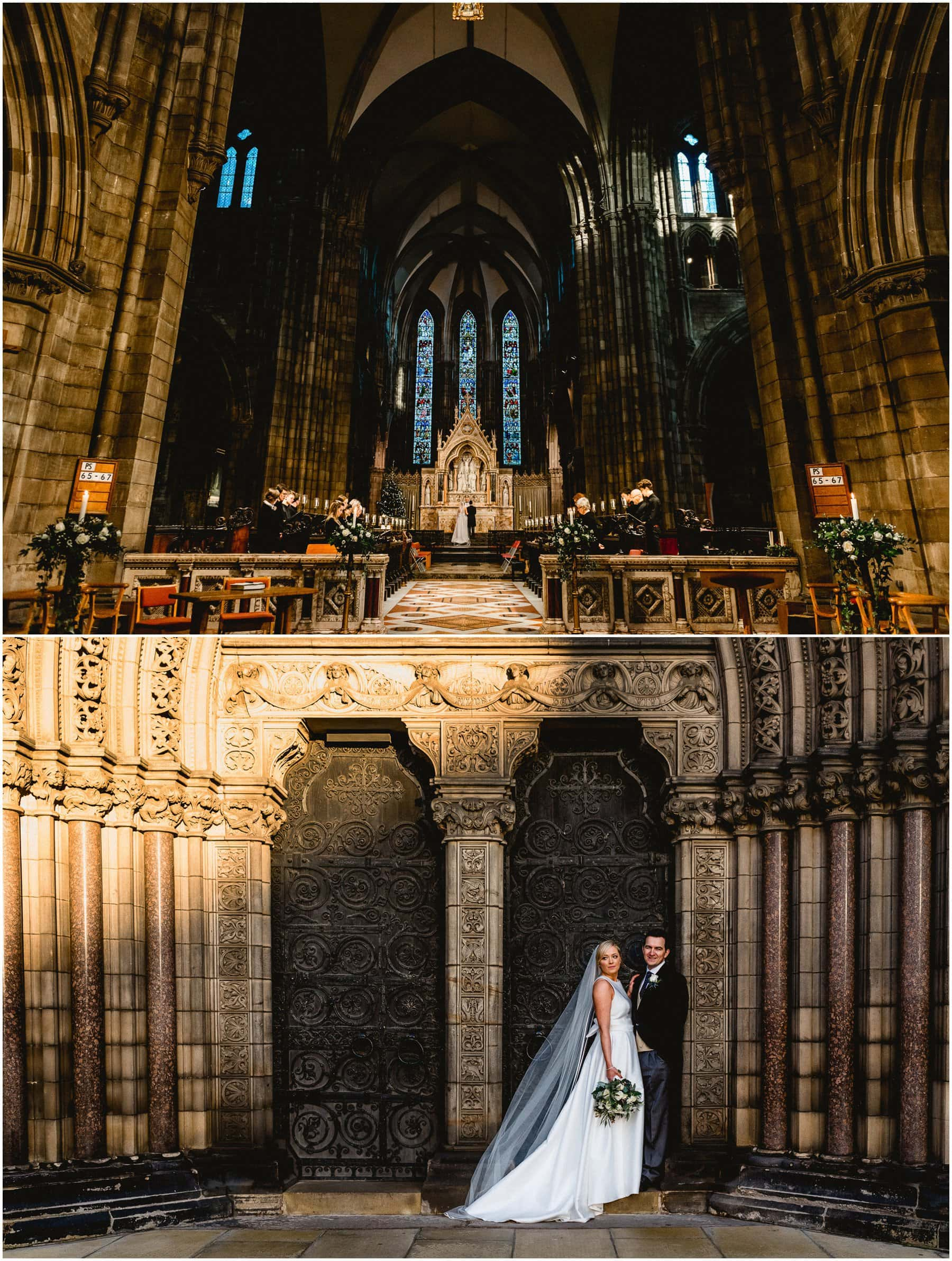 St Marys Cathedral Palmerston Place wedding ceremony and bridal portrait