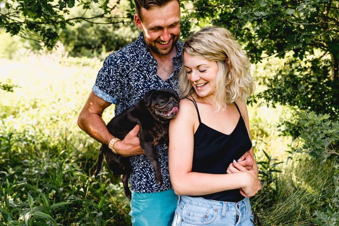Sutton Park Engagement Shoot with Megan and Tom and their pugs!