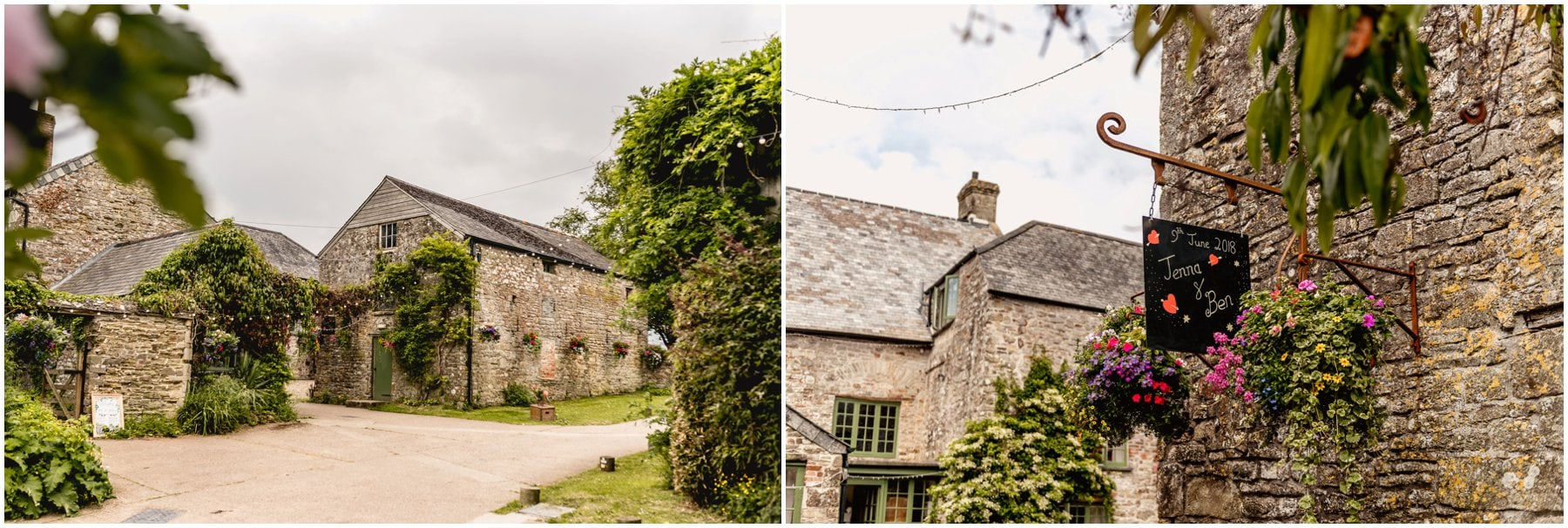 Exterior view of the Ash Barton Estate in Devon ahead of Jenna and Ben's wedding