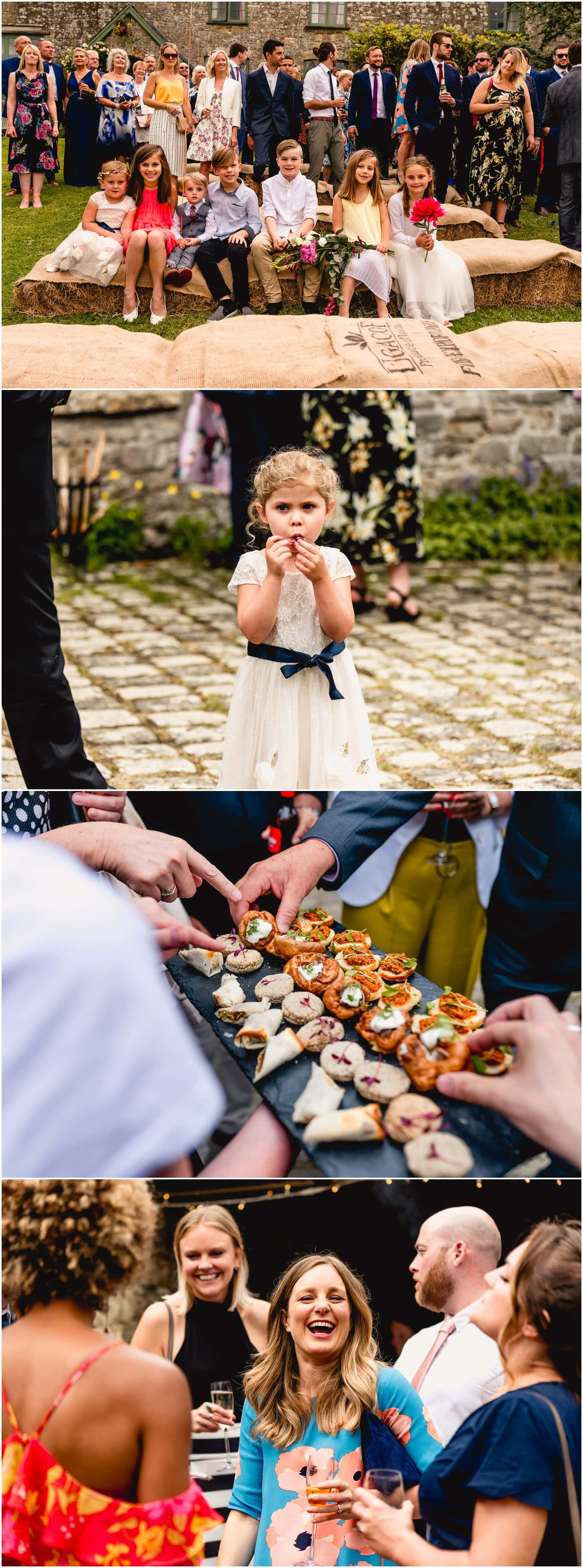Candid and documentary photography during wedding reception.
