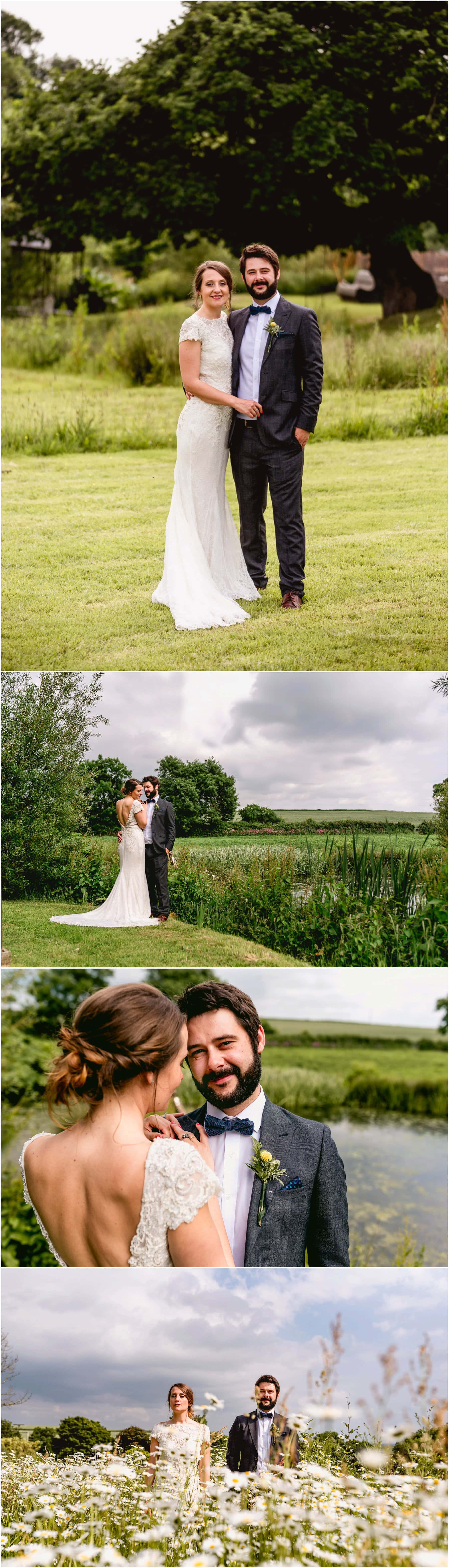 Bridal portraits with Jenna and Ben in the Devonshire countryside